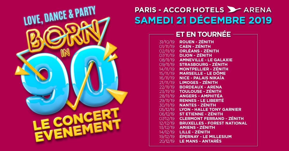 Programme de la tournée Born in 90