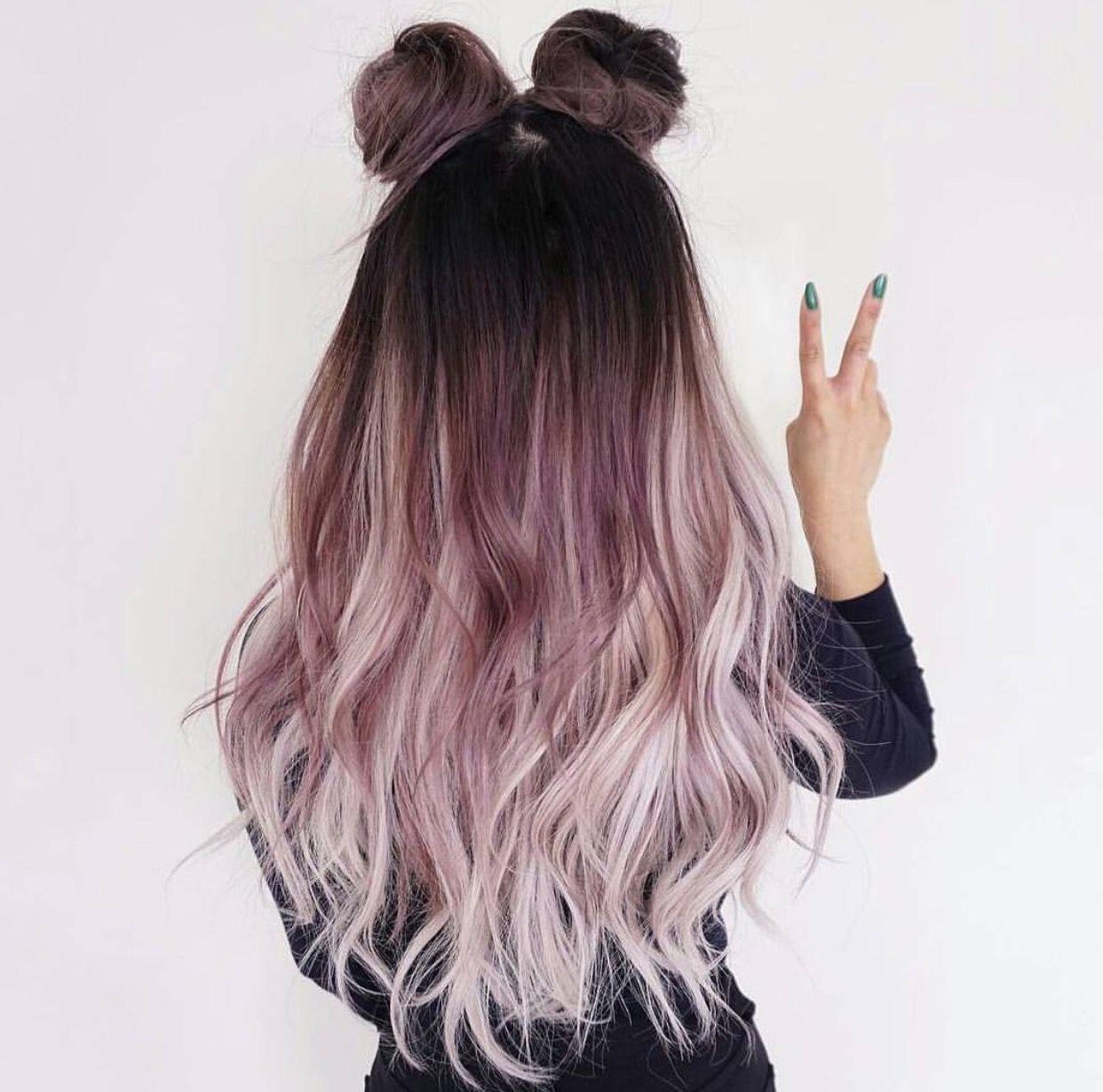 Ombré hair pastel